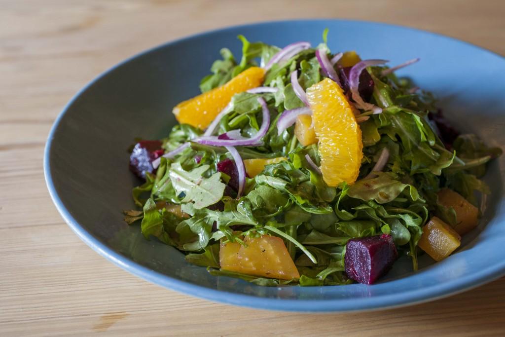 Beet Arugula Orange Salad