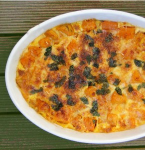 Butternut Squash, Sweet Potato and Potato Gratin