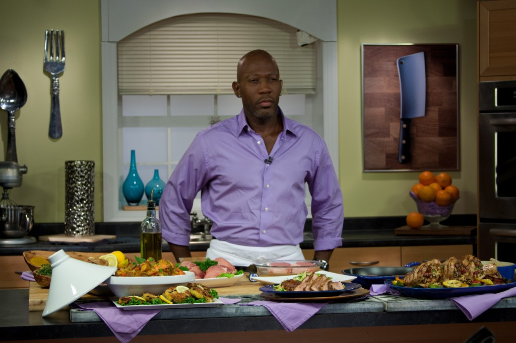 Chef Madison Cowan on Set