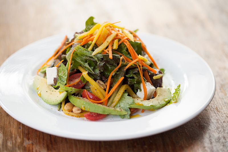Shebeen Salad with Wild Greens, Papaya, Mango, Berries, Avocado and Nuts