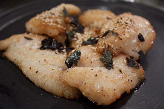 Pan-Seared Lionfish w/ Furikake Seaweed Salt