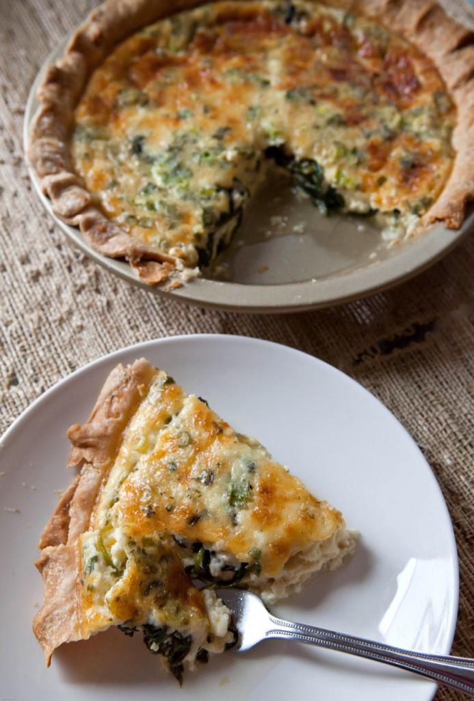 Spinach, Cheese & Green Onion Pie with Dill and Fines Herbes