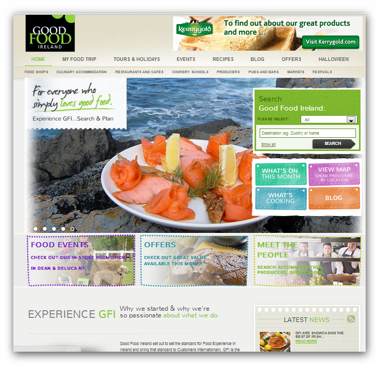 Good Food Ireland Website
