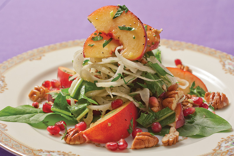 Fennel and Pecan Salad with Peaches