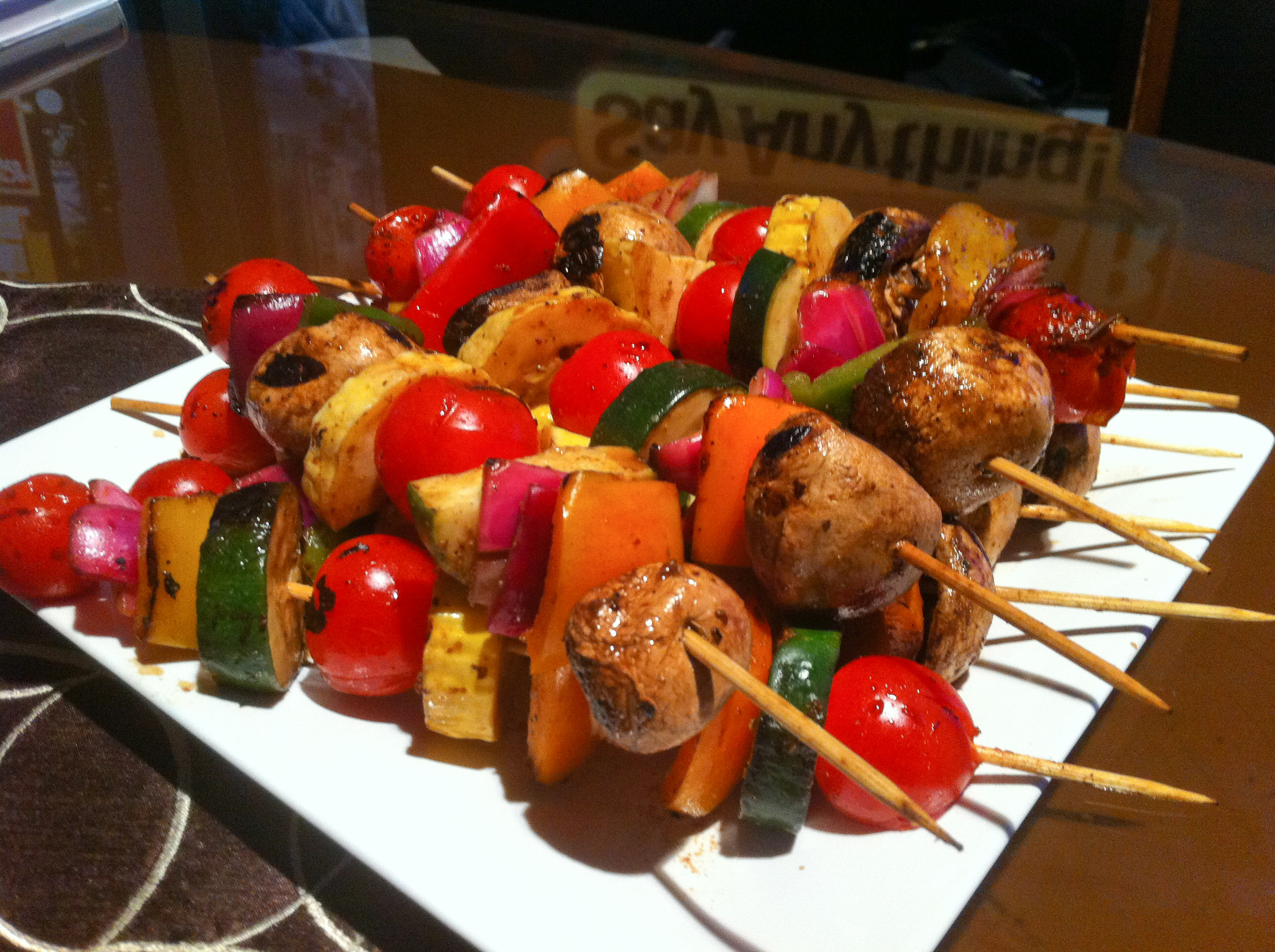 Marinated Grilled Veggie Kabobs