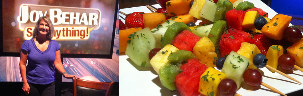 Food Styling for Dr. Neal Barnard on the Joy Behar: Say Anything TV Show!