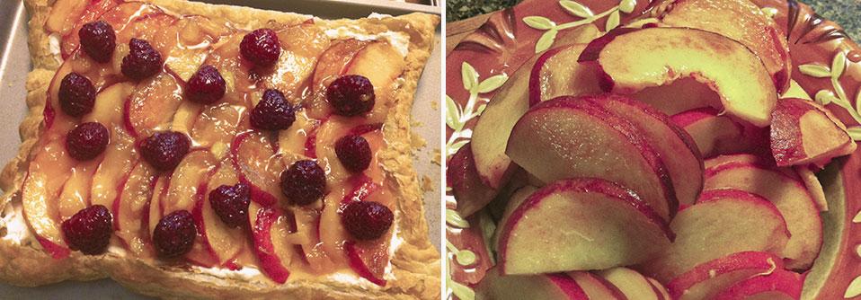 Savoring the Fruits of Summer :: Peach-Raspberry Almond Vanilla Cream Tart