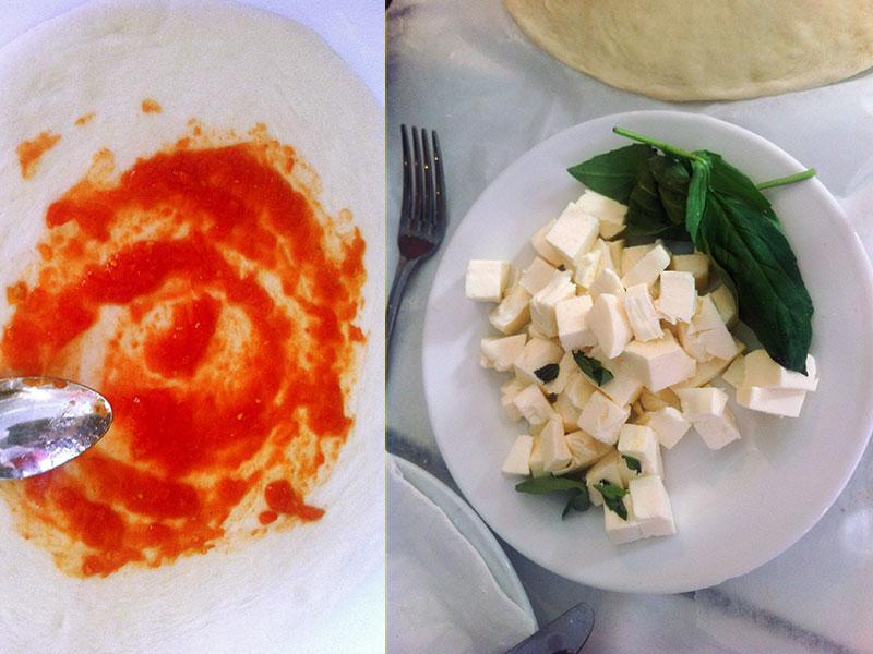 San Marzano Tomato Sauce, Fresh Mozzarella & Basil