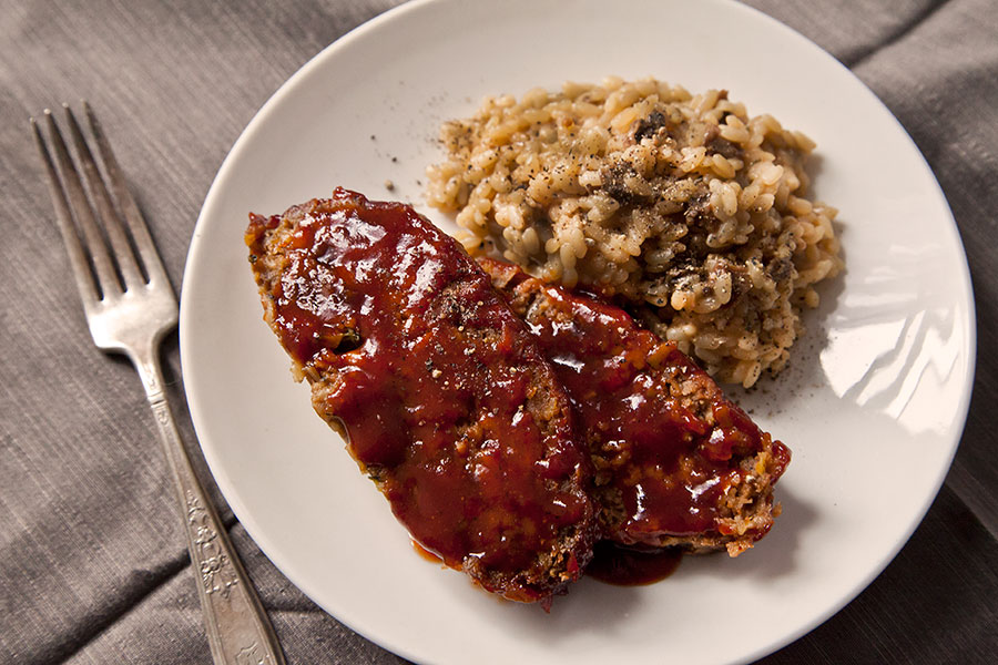 Homestyle Meatloaf with Ancho Chile-Red Pepper Glaze