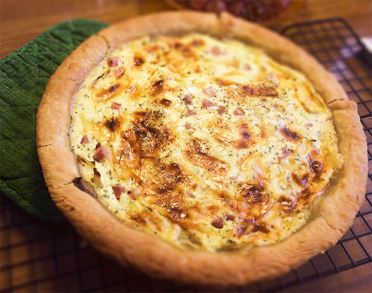 Caramelized Onion, Ham & Gouda Tart