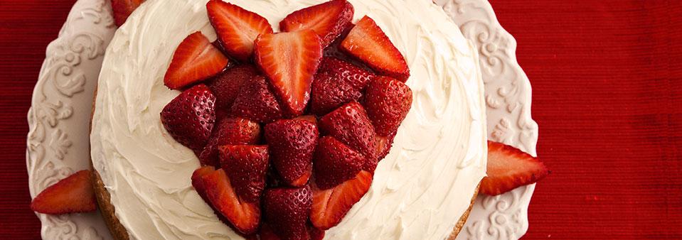 A LOVE-LY Strawberry Chambord Valentine's Day Cake