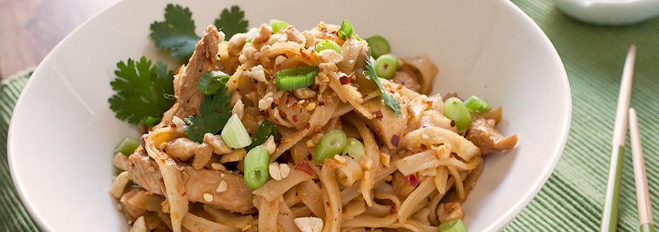 Spicy Thai Chicken Peanut Noodles