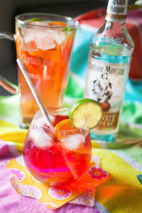 Key Lime Cherry Coconut Fizz Cocktail