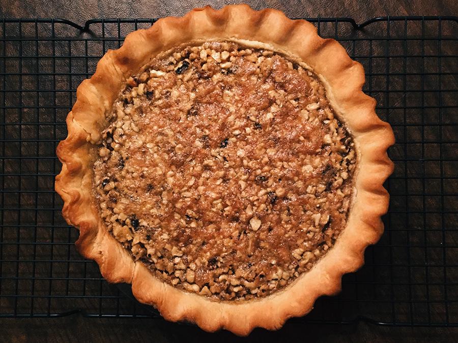 Maple Brown Sugar Walnut Pie