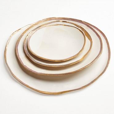 Jan Burtz Gold Luster Plates