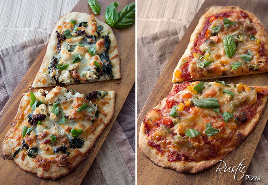 Homemade Rustic Pizzas