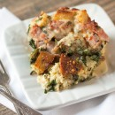 Entertaining with Ease: Holiday Brunch Strata w/ Ham, Spinach and Cheese